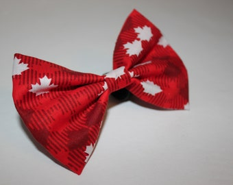 abd8e047 The Maple Leaf - Dog And Cat Bow Tie - Canada Day Themed Dog And Cat Bow Tie