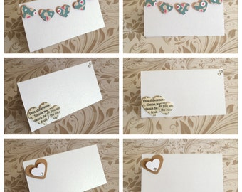 Wedding place setting cards