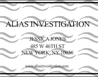 Jessica Jones Business Card Replica