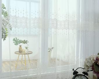 Sheer curtain fabric | Etsy