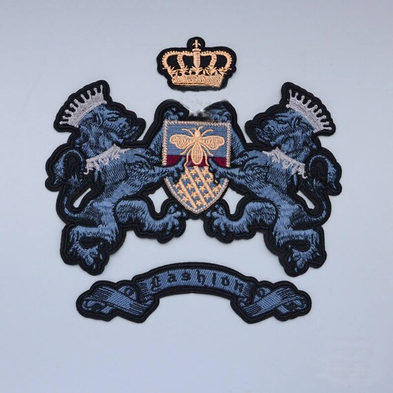 FREE UK P/&P Isle of Man Shield Embroidered Sew on patch