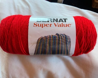 Bernat Super Value Stripes Yarn ~ Colour # 73005 Spice Stripes~ 5 oz142 Grams ~ 263 Yards ~ #4 Medium