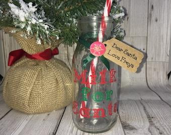 Personalised Santa Milk Bottle