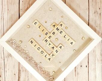 Personalised Family Scrabble Art Frame