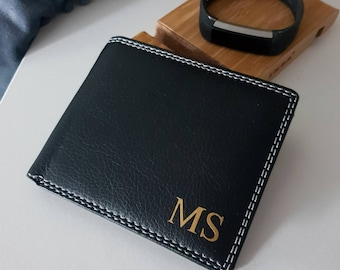 0790dc1497a0 Personalised pu leather wallet