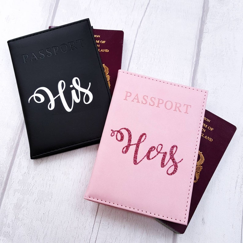 b23e66bda5 Couple passport covers wedding gift for the couple Newlywed | Etsy