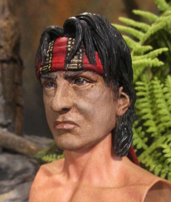 "1//6 scale Custom Vietnam Soldier Head sculpt asian for 12/"" figure use"