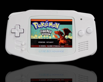 Nintendo Gameboy Advance Modded Console, Perfect White Edition. IPS V2, USB C, Audio Enhanced Pro Build To Order