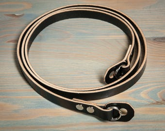 English Bridle Leather camera strap
