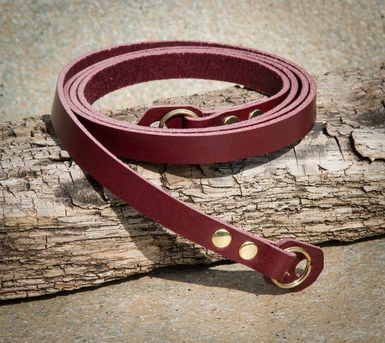 Rich Burgundy Leather Camera Strap
