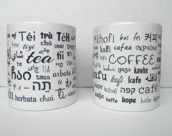 Polyglot language student multi-language tea coffee mug