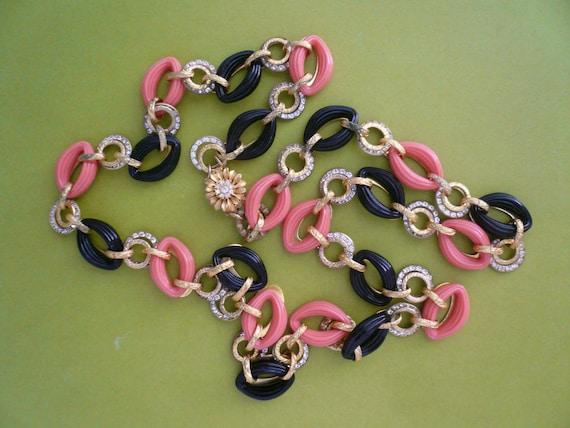 Long vintage 1970s necklace