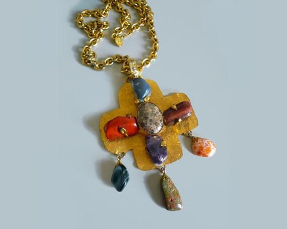 PHILIPPE FERRANDIS Paris big statement necklace