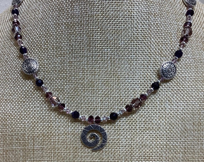 Hill Tribe Spiral with Amethyst