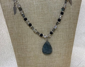 Labradorite and silk