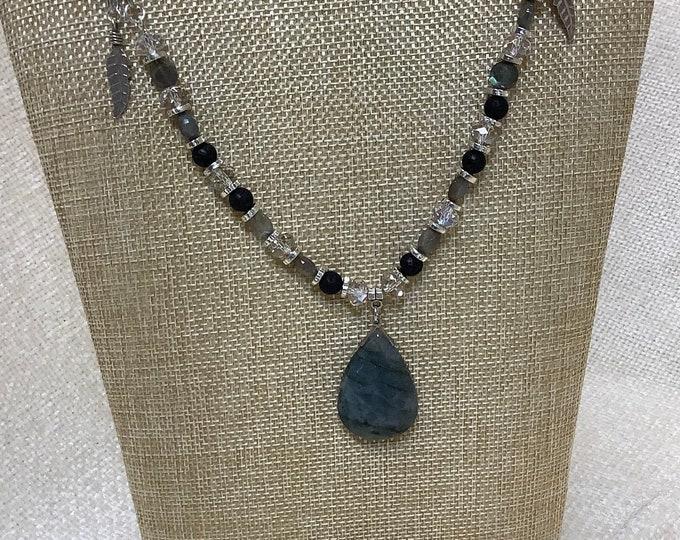 Labradorite and silk