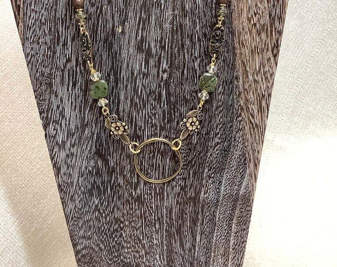 Brass hoop necklace