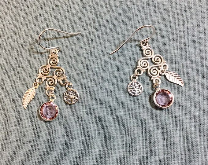 Silver Hippie Chick Chandelier earrings
