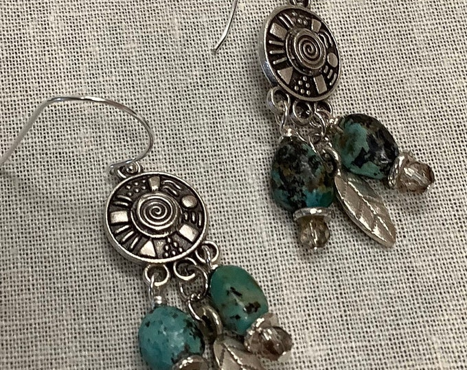 Pewter and Turquoise Chandeliers