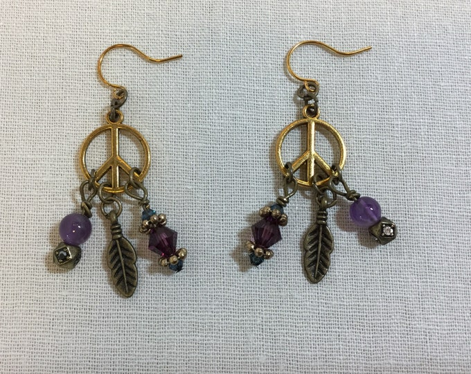 Hippie Chick earrings with amethyst