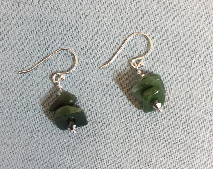 New Zealand jade earrings