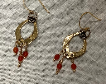 Funky hoops with Carnelian