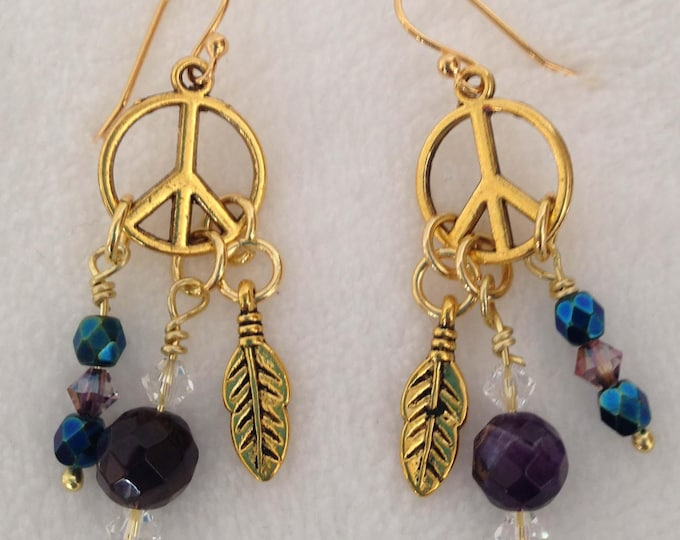 Hippie Chick with faceted amethyst