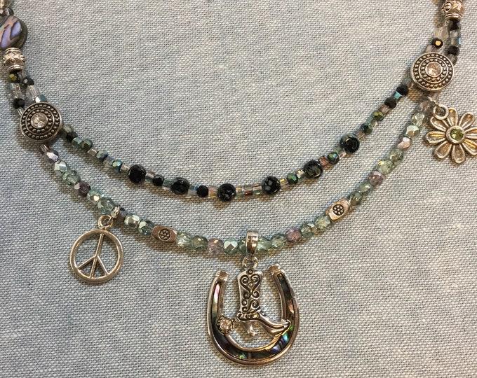 Texas Horseshoe Necklace