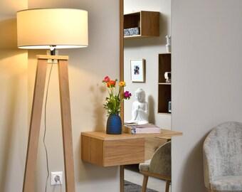 Puppenstuben & -häuser Puppenhaus Braun Medizin Schrank mit Spiegel Tür Badezimmer Miniatur-Möbel