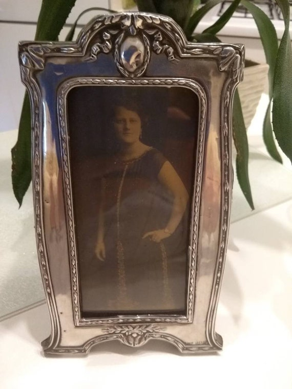 Antique Sterling Silver Photo Frame Birmingham 1911 Harrison Etsy