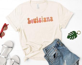 Retro Louisiana Shirt | New Orleans Shirt | New Orleans Saints Shirt | Louisiana Girl | Baton Rouge Shirt | Loiusiana Pride
