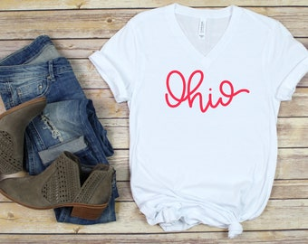 Unisex Ohio Script Shirt | Ohio Shirt | Ohio State Buckeyes Shirt | OSU Buckeyes Shirt | Buckeyes Fan Gift | Ohio Gift