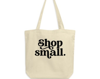 Shop Small Tote Bag | Eco Friendly Gift | Small Business Owner | Entrepreneur | Girl Boss Shirt | Mom Boss | Small Business Saturday