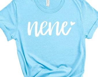 Nene Shirt | Promoted to Grandma | Gift from Grandkids | Grammy Graphic Tee | New Grandmother | Great Grandma Gift | Grandma Announcement