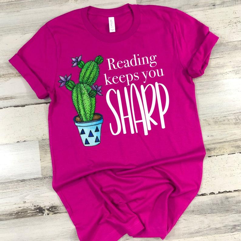 Reading Keeps You Sharp  Back to School Teacher Shirt  image 0