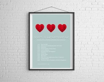 Kanye West /'808/'s /& Heartbreak/' Hollywood Bowl Artwork Poster or Art Print
