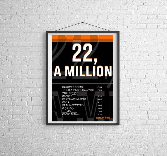 A Million Wall Decor Custom Silk Poster Bon Iver 22