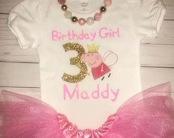 489473a9d Peppa pig Birthday Shirt // Birthday Party Shirt // Pig Party Top // pepa  // pippa // peppa the pig // pink // birthday party