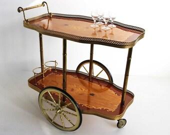 Wonderlijk Brass tea cart   Etsy IE-76
