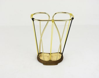 60s MidCentury modern  Vintage Umbrella stand aluminum Umbrella holder Umbrella walking stick holder minimalist retro