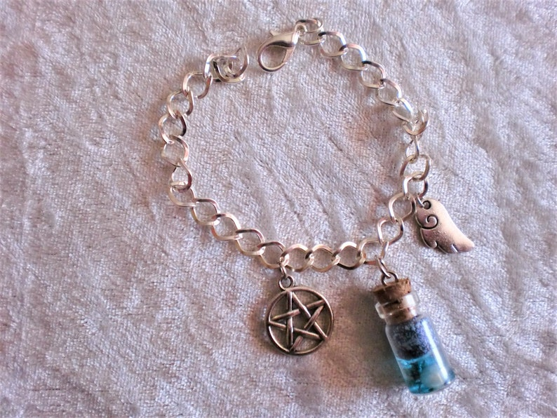 Supernatural bracelet with protective amulets