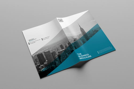 Corporate Bifold Brochure Template Bifold Business Brochure Etsy