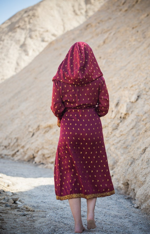 Kimono Red Majestic Robe Unisex Hooded T1wqtw6Xxz