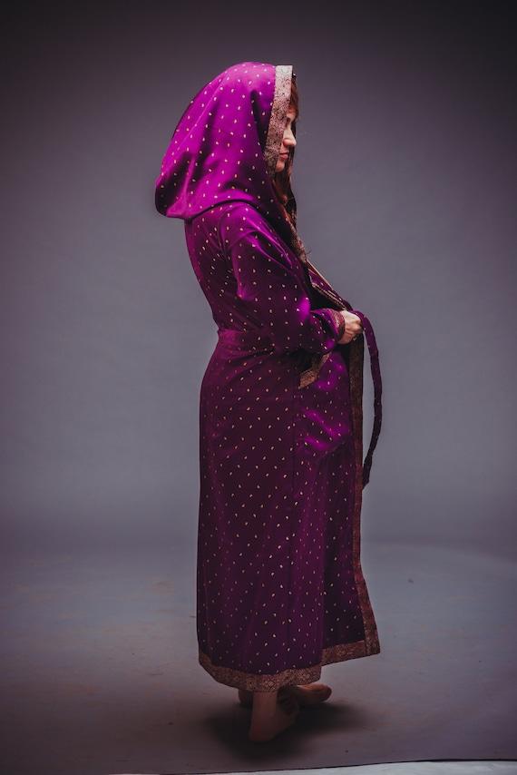 Purple Velvet Handmade Ethnic Velvet Purple Jacket 05FwvEq