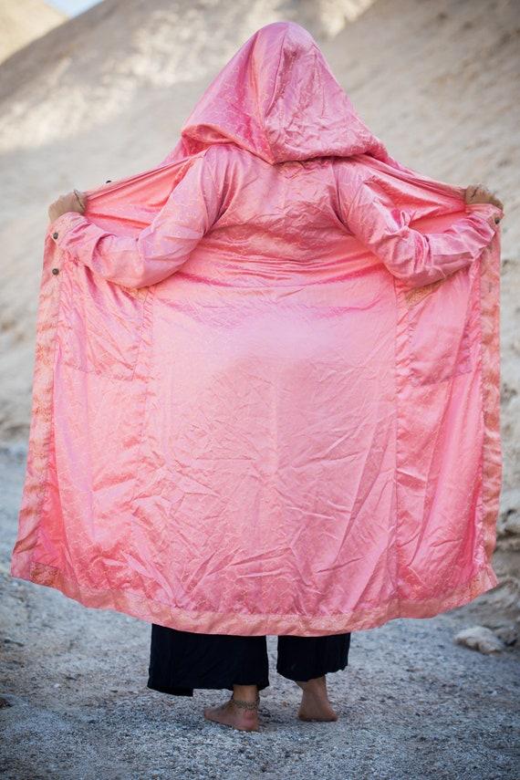 Eastern Pink Eastern Hooded Pink Cloak Cloak Hooded Fg6xzxR