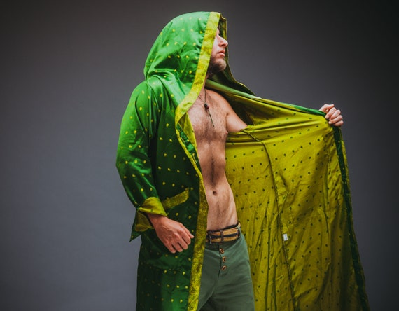 Green Ethnic Unisex Jacket Style Majestic Hooded PHxrwpqP1