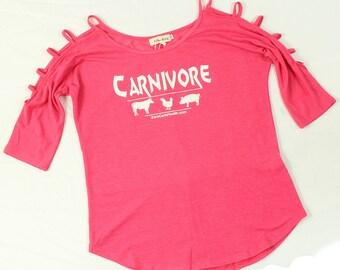 Women's Ladder Sleeve Carnivore Top
