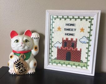 Home Sweet Home - Super Mario Bros, Nintendo Cross Stitch Pattern