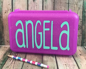 Personalized Pencil Box - Pencil Box With Name - School Supply Box - Pencil Box - Pencil Case - Plastic Pencil Box - Art Supply Box - School