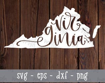 Virginia State svg, Virginia Silhouette svg, State Silhouette svg, Virginia State Design, Virginia Cut File, State Cut Files, SVG Files